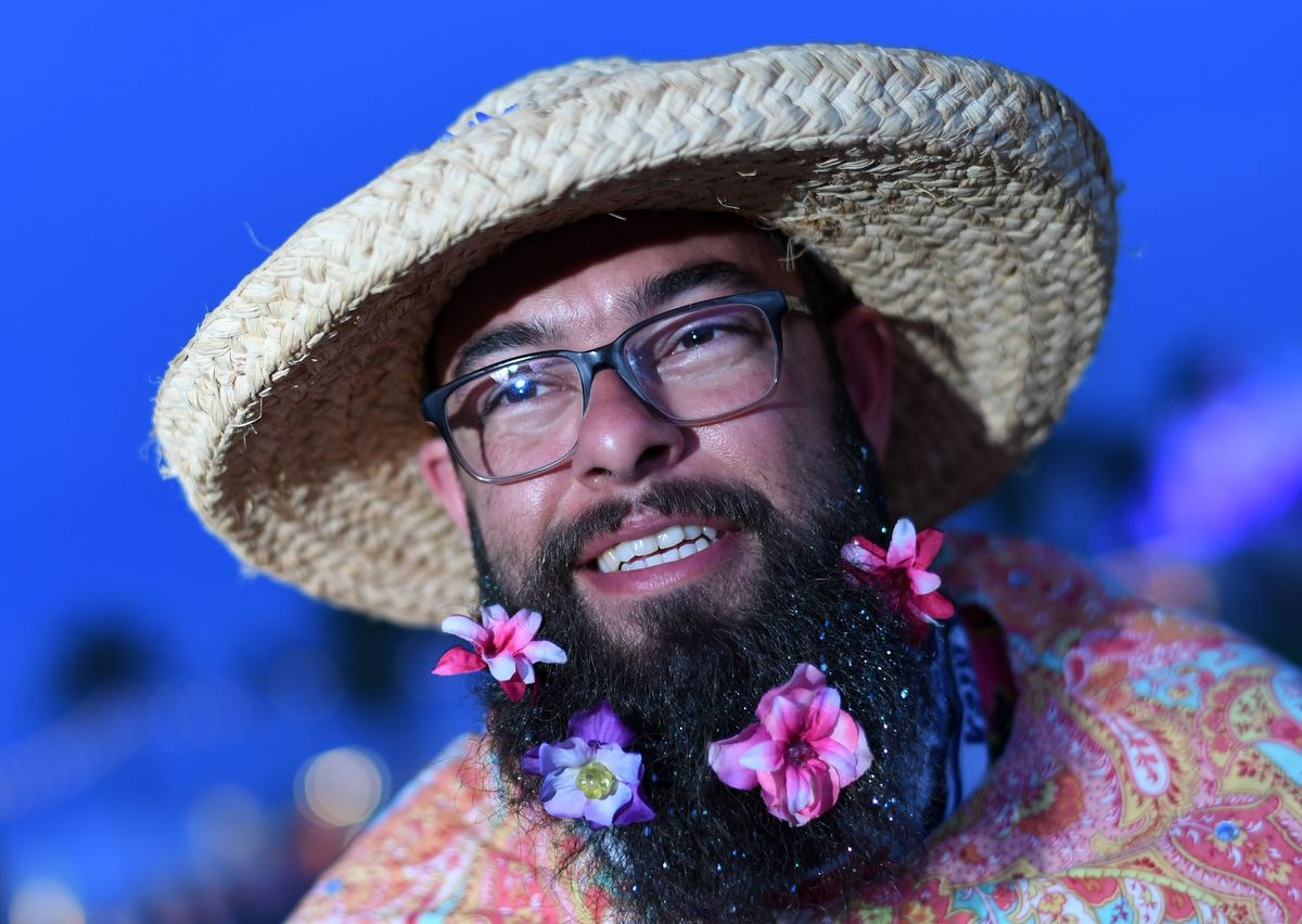 Coachella festival goer fear of beards facial hair pogonophobia