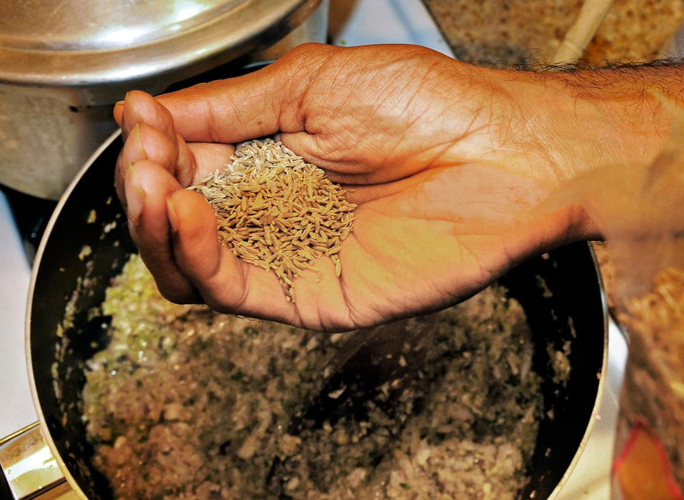 Daniel Patrick Singh adds cumin seed to his lentils dish cumin health benefits helps digestion