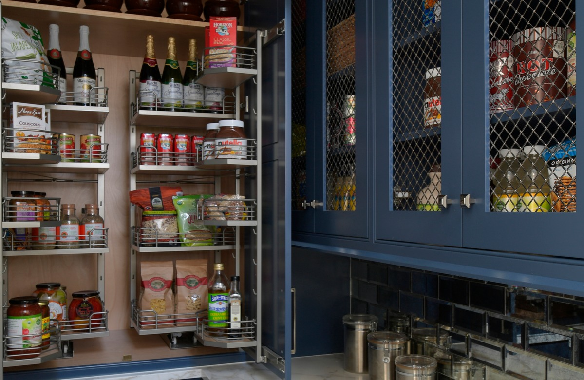 Pantry in the Todorov family kitchen
