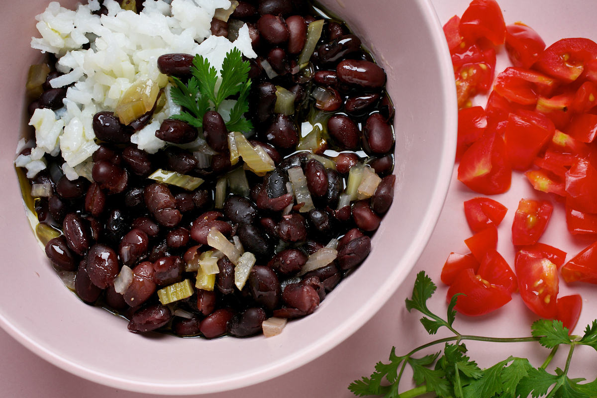 Orange Black Beans With Cumin
