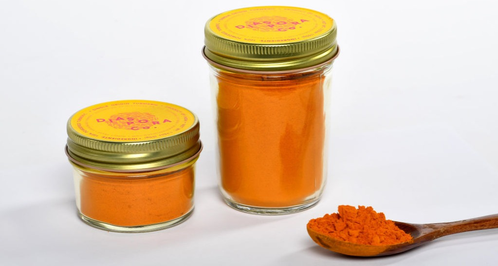 jar of ground turmeric