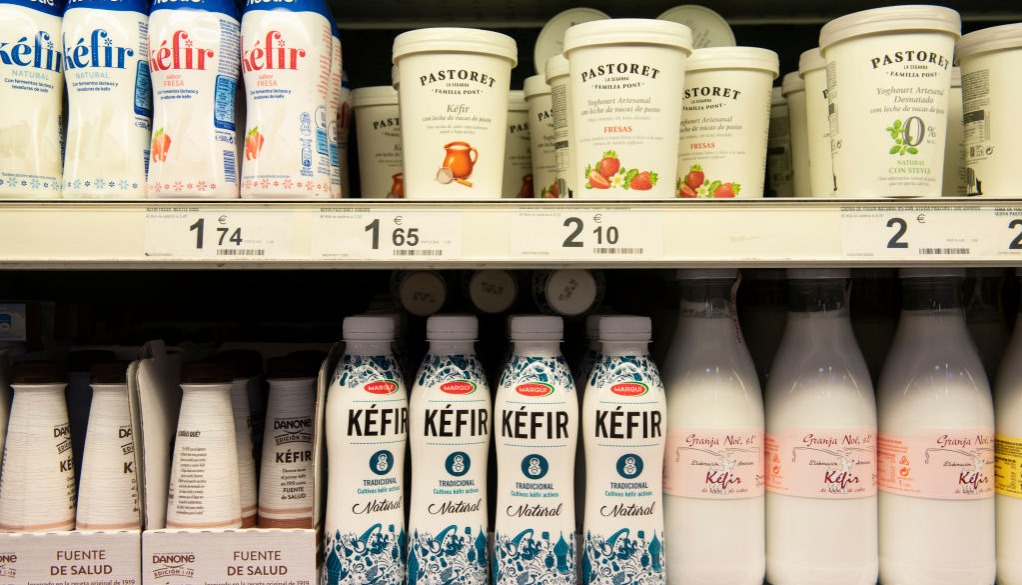 bottles of kefir
