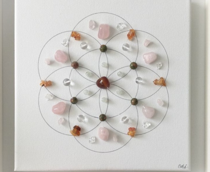 crystal grid relieve stress amethyst jasper crystals