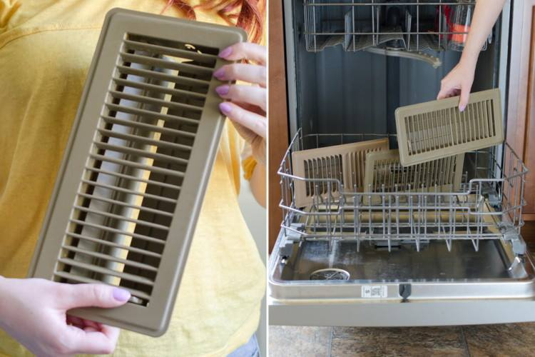 your air conditioning vents are dishwasher safe
