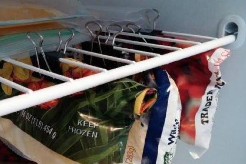 binder clips as freezer storage