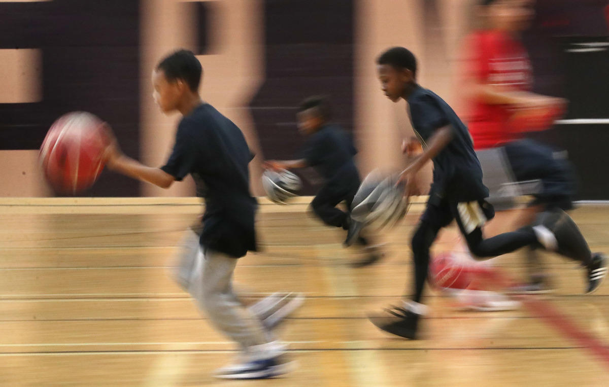 Children run drills Malvern Community Centre