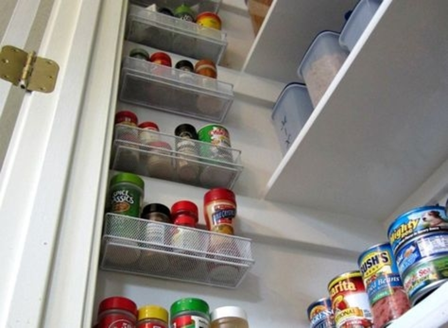 use desk organizers in your pantry storage hack