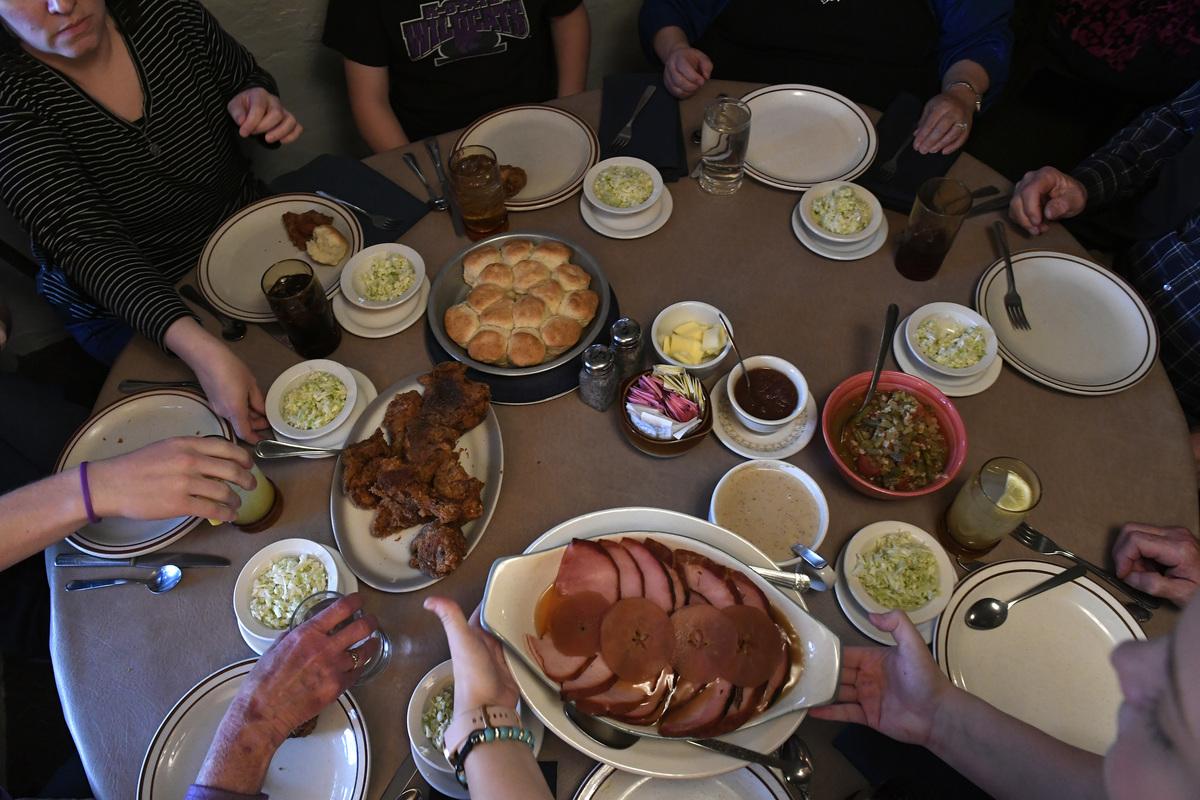 Juniper Valley Ranch dinner served family style