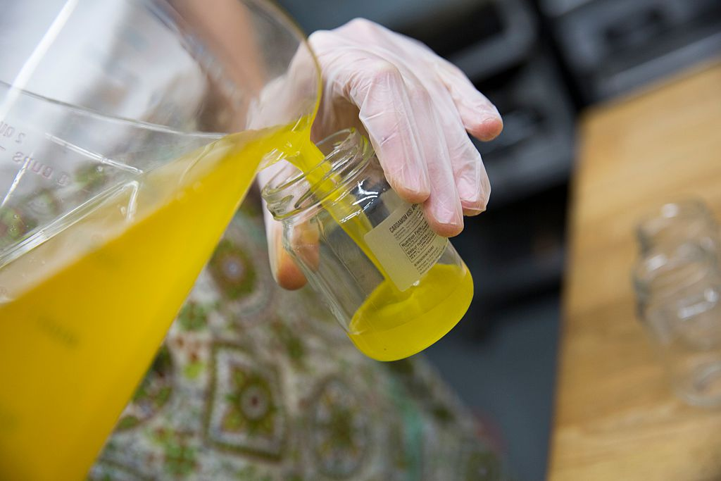 GettyImages-467487306 Lee Dares prepares organic Ghee. Her new company, Lee's Ghee will be one of the vendors at the Spring One Of A Kind Show n Toronto