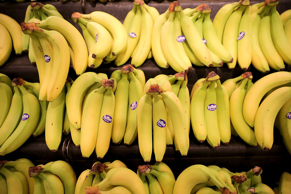 GettyImages-632471088 Fyffes bananas are seen for sale inside Rochdale's Morrisons supermarket