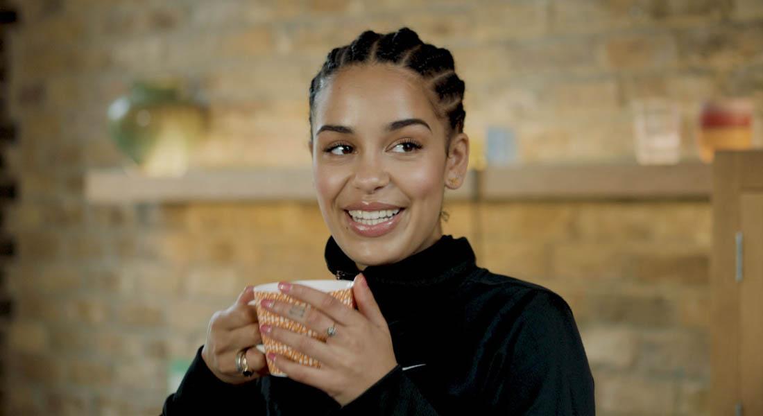 jorja smith sipping tea