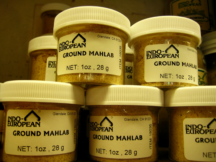 mahlab spice in jars
