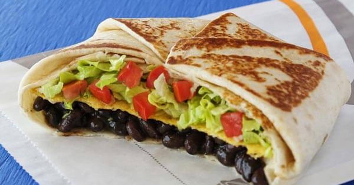 a vegan cruchwrap supreme from taco bell
