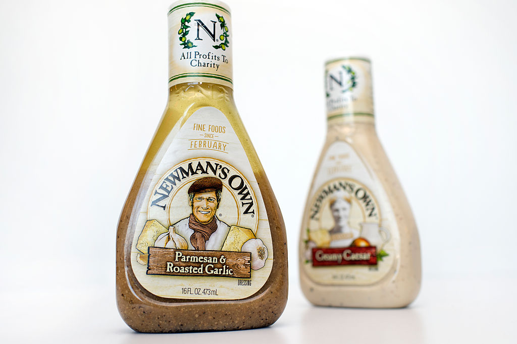 a couple bottles of newman's own salad dressing