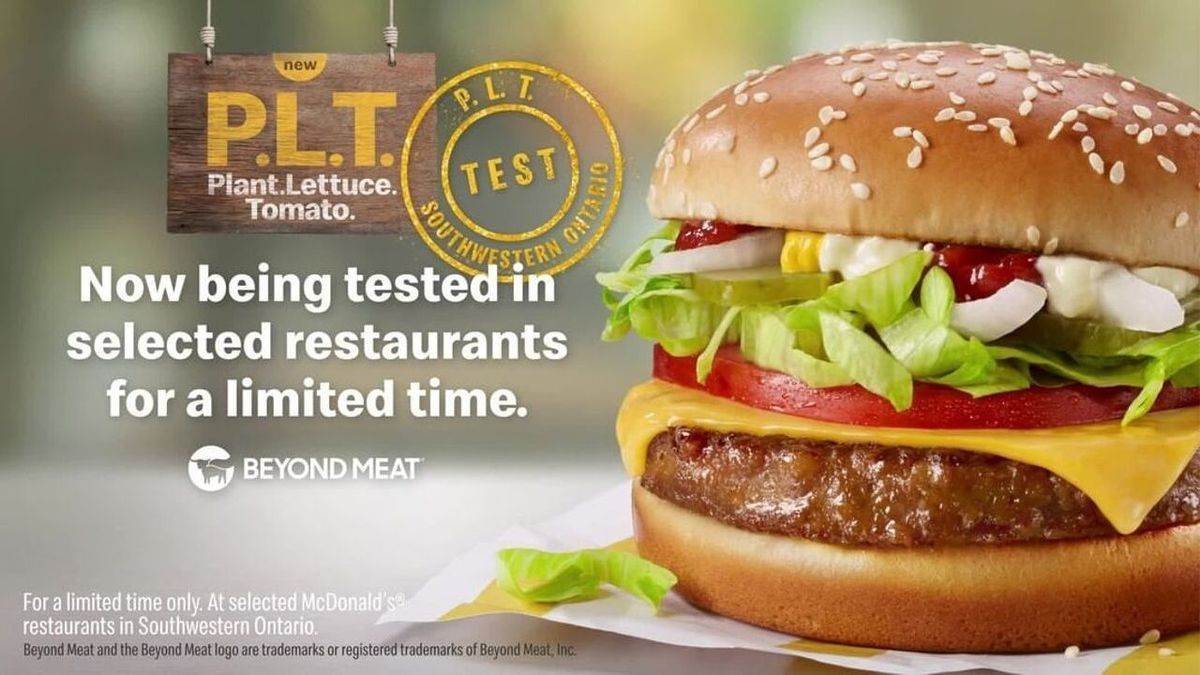 McDonald's latest burger P.L.T