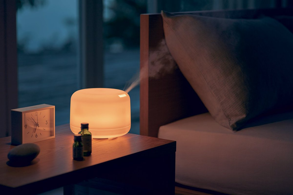 An aromatherpy diffuser in action