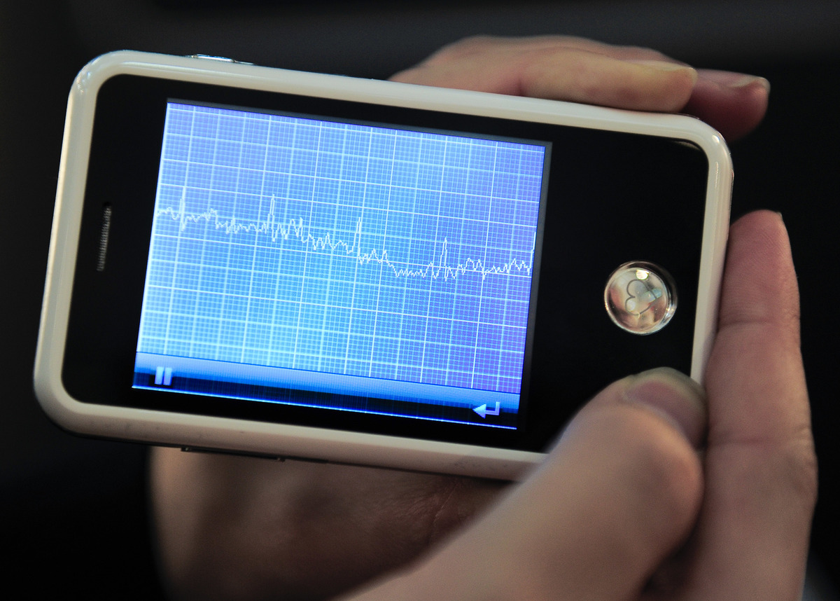 The EPI Life mobile phone comes complete with mini electrocardiogram and takes a user's pulse when he or she presses their fingers on a receptor.