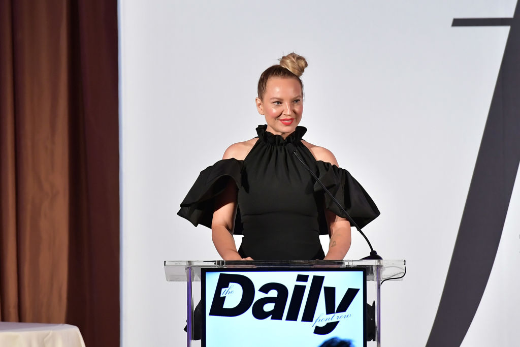 Sia speaks onstage duing The Daily Front Row Fashion LA Awards
