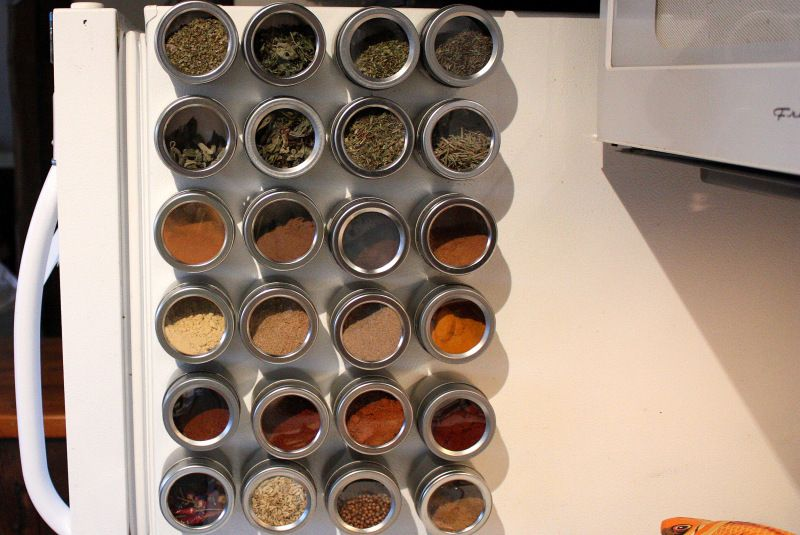 Stick Tins To Your Fridge For A Makeshift Spice Rack