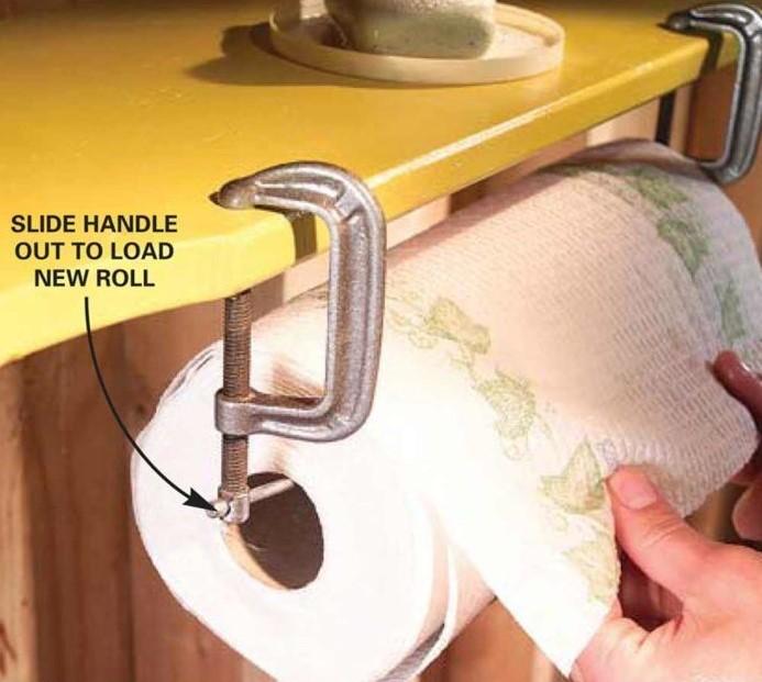 C-Clamp Paper Towel Holder