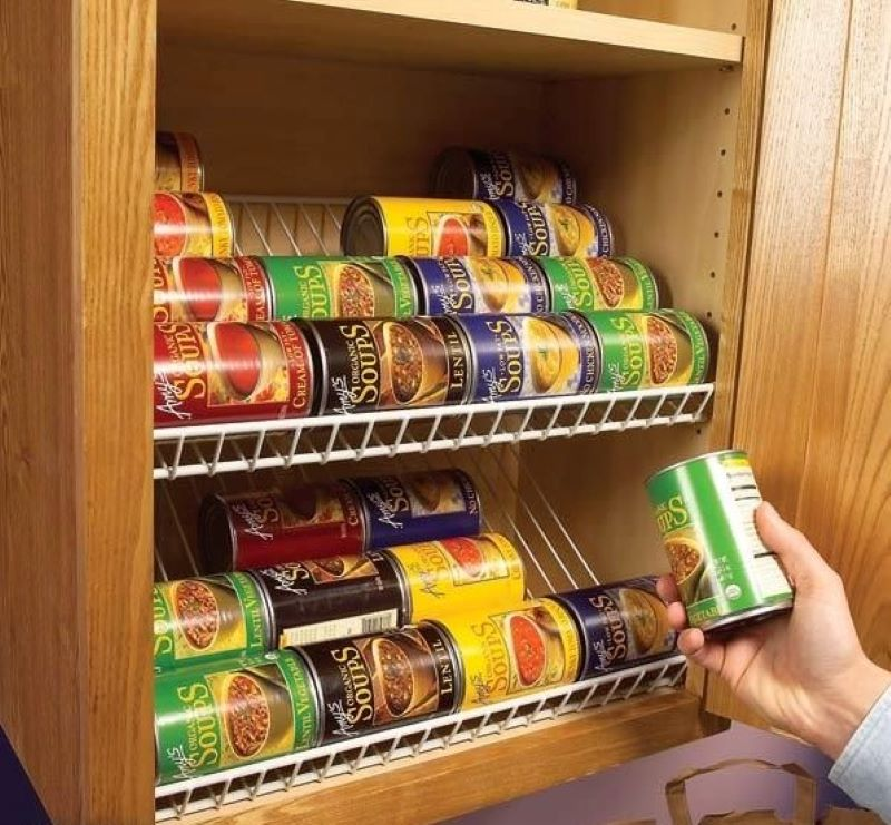 Closet Rack To Organize Your Canned Goods