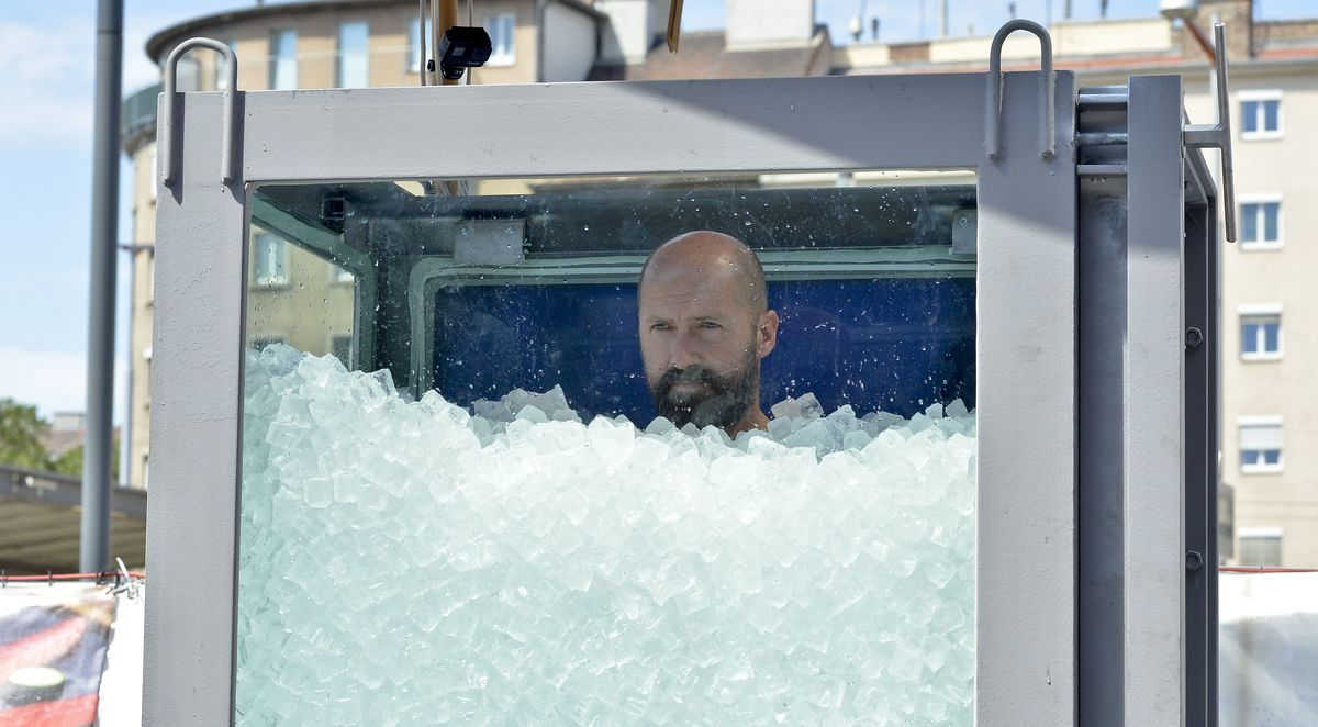 man in ice
