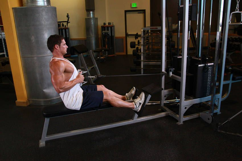 Seated Cable Row Works Your Entire Upper Body