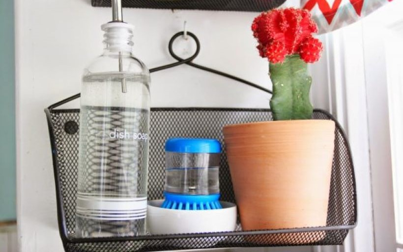 Use Office Supplies To Clear Counter Space