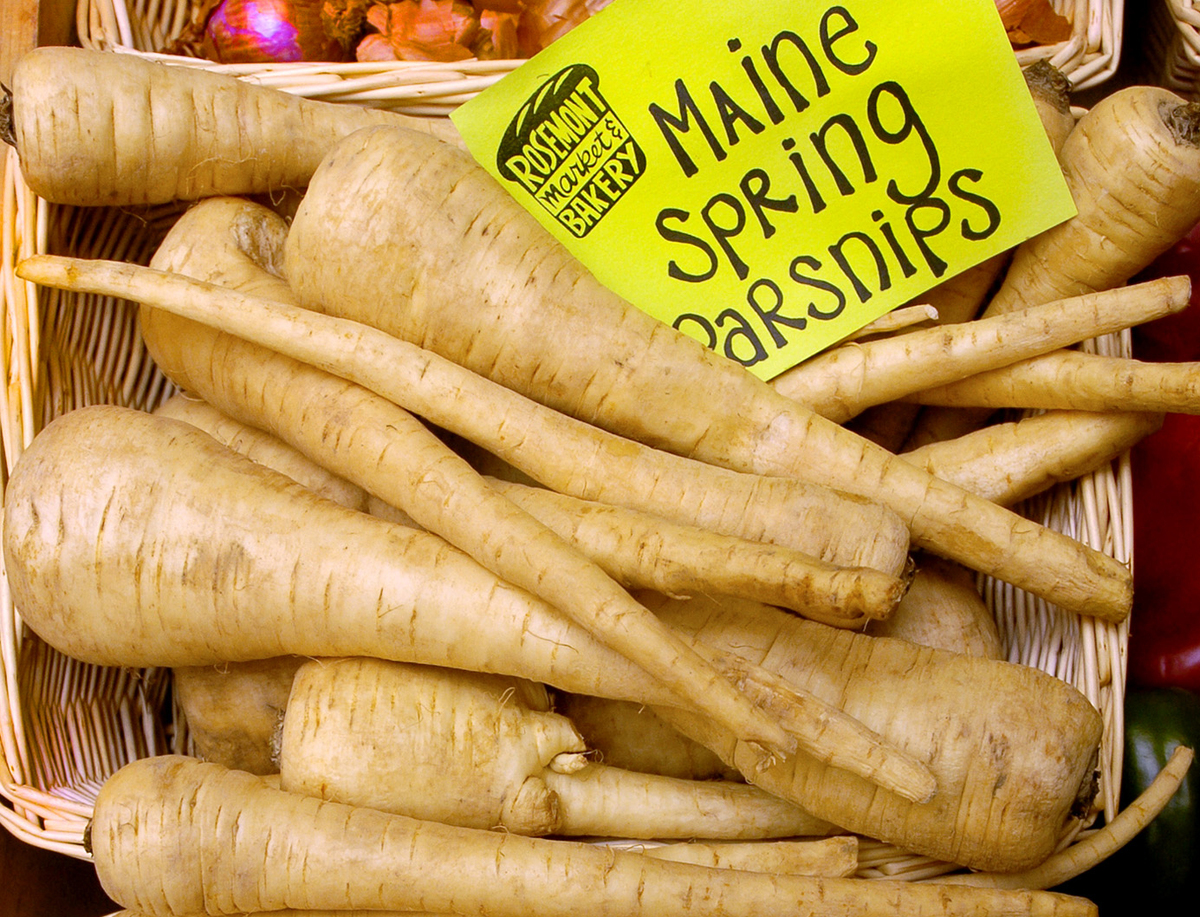 Maine Spring parsnips are on sale at Rosemont Market.