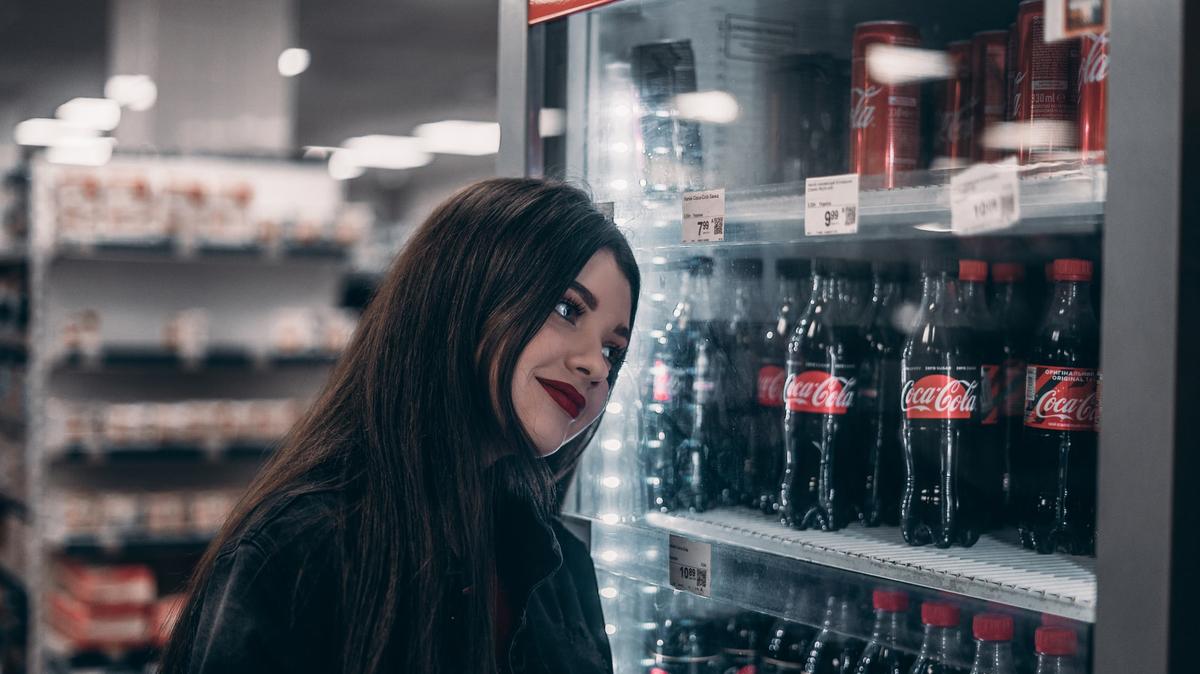 soda in a store