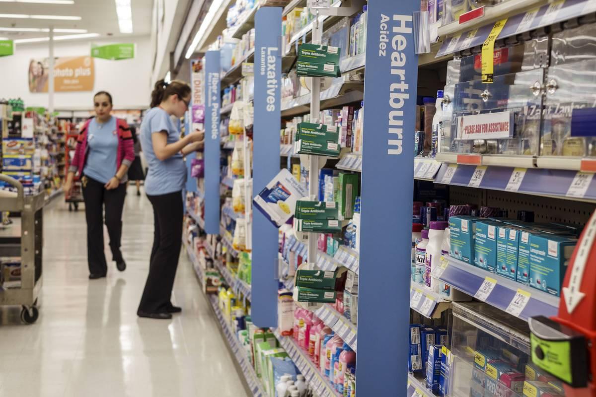 Heartburn medication has its own section at Walgreens.
