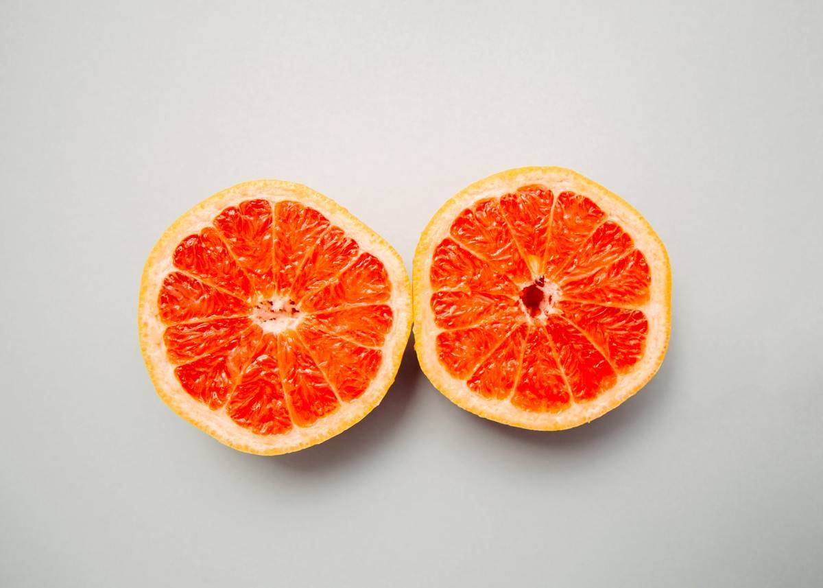 a slice of grapefruit