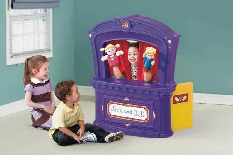 Children with a puppet show