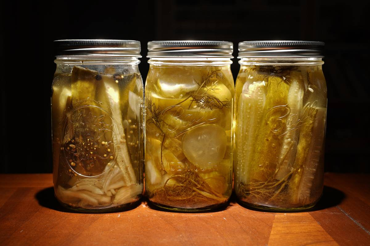 Jars contain pickles.