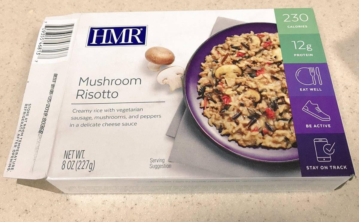 A book of HMR risotto has been opened.