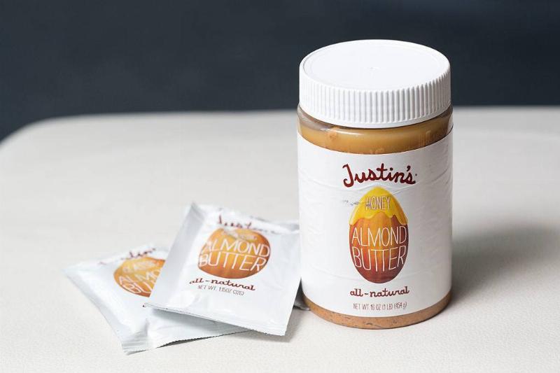 jar of organic almond butter