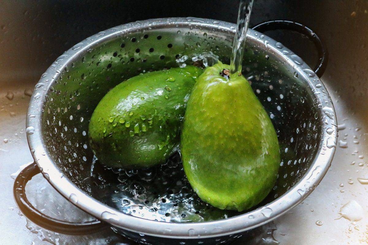 Wash The Skin So You Don't Push Bacteria Into The Fruit