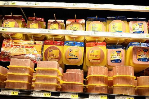 packaged bologna in a grocery store