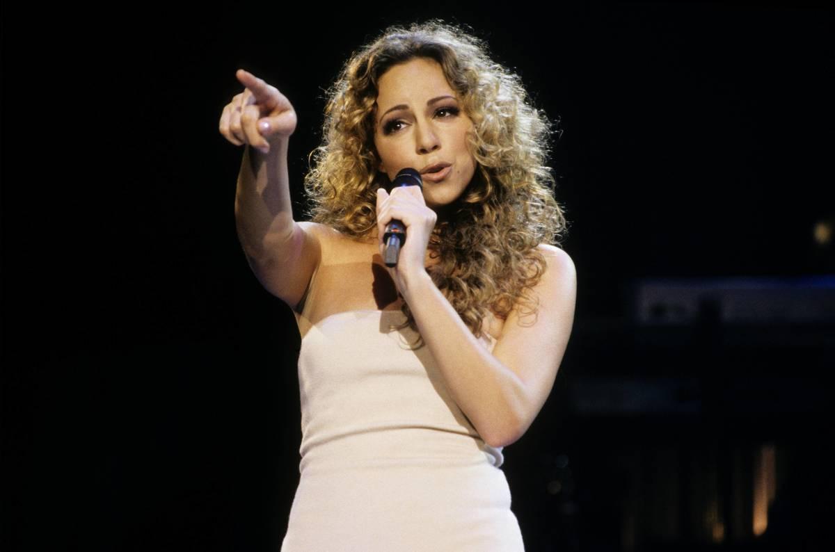 Mariah Carey performs onstage.