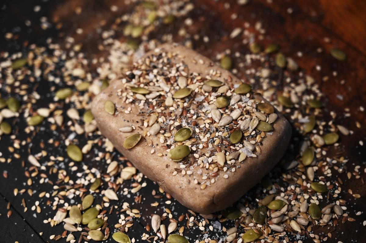 Multi-seed rye crackers by Christine Burns Rudalevige
