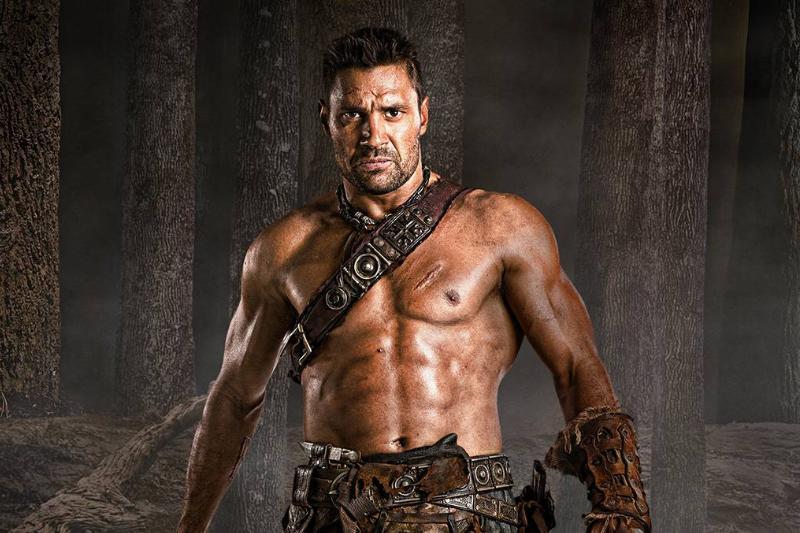 Manu Bennett in Spartacus
