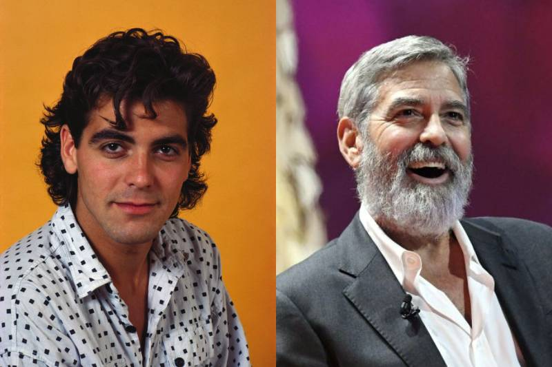 george clooney young and old photos
