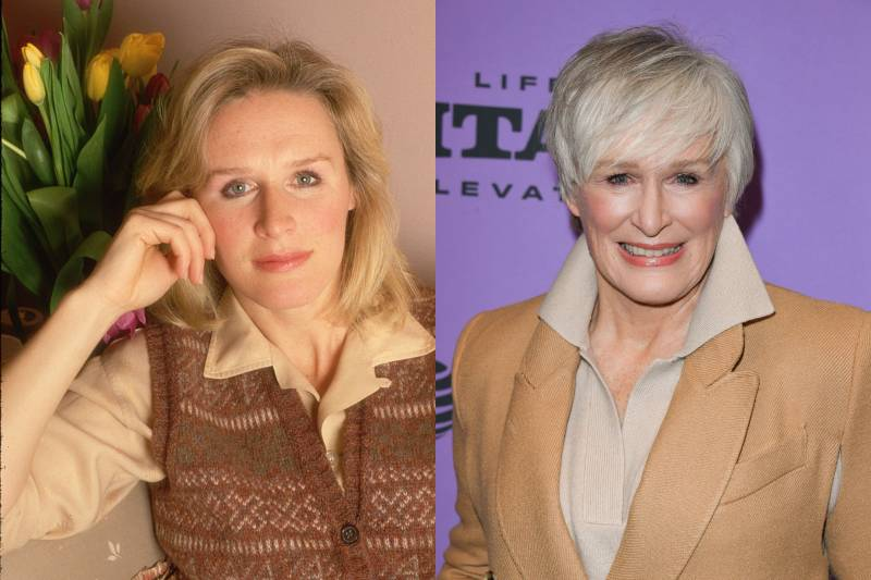 glenn close young and old photos