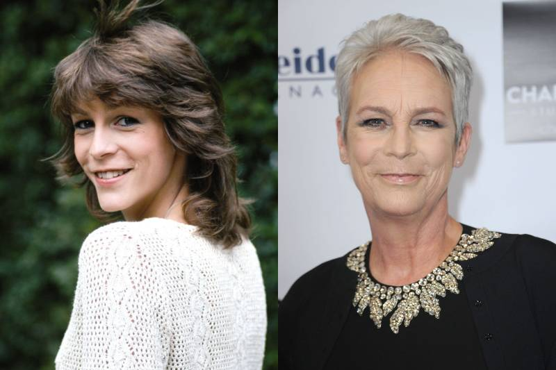 jamie lee curtis young and old photos