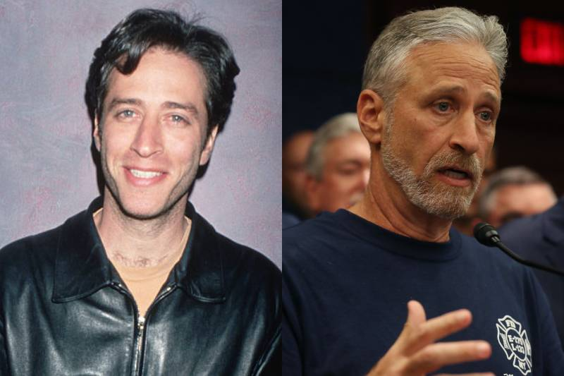 jon stewart young and old photos