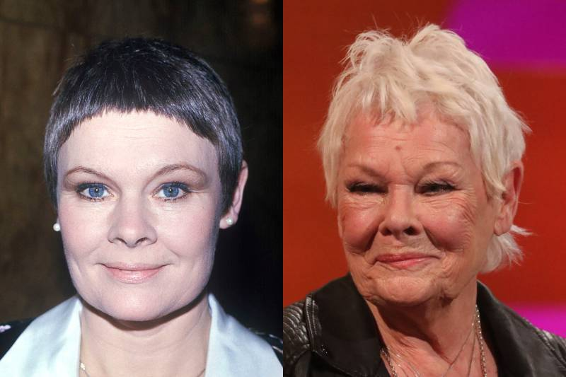 judi dench young and old photos