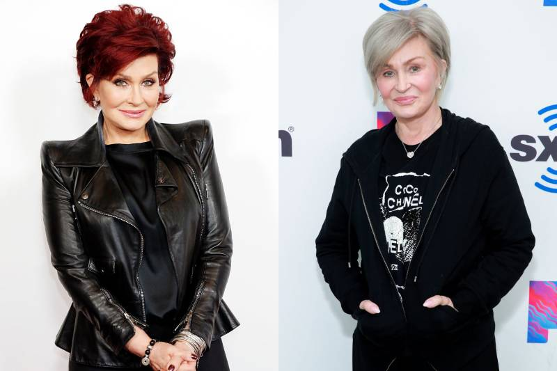 sharon osbourne with different colored hair