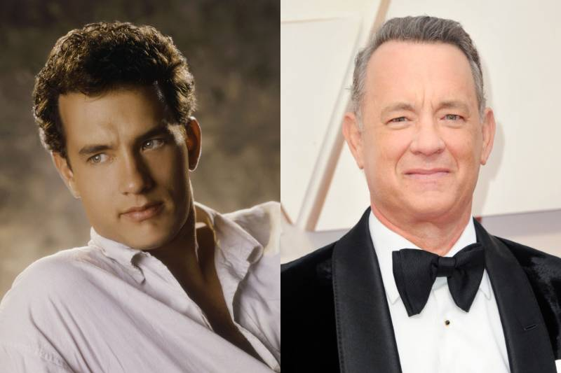 tom hanks young and old photos