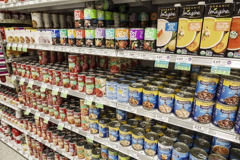 Miami Beach, Publix grocery store, soup aisle