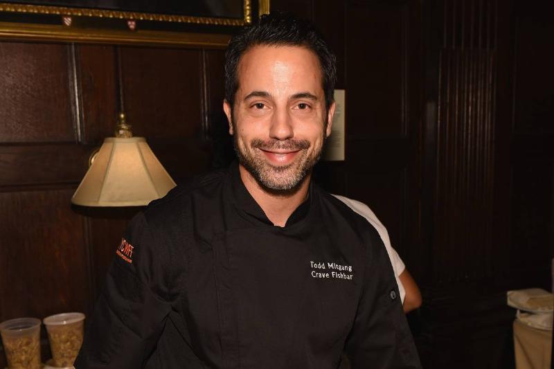 Chef Todd Mitgang poses at LG PRESENTS ROCK & ROLL SUSHI.